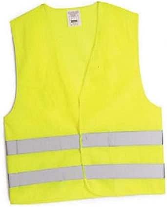 Chaleco de seguridad amarillo que refleja este EN-471, talla unica
