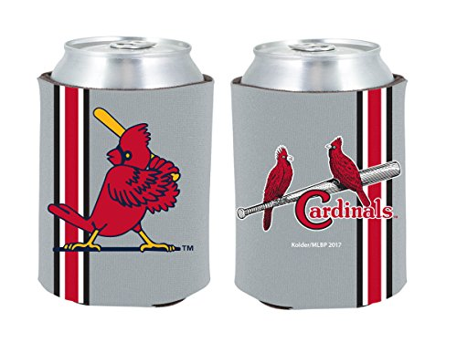 St Louis Cardinals 2-Pack CAN Retro Throwback Koozie Neoprene Holder Baseball