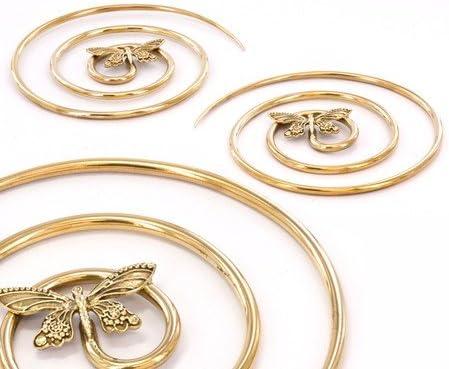 Elementals Organics 2mm 5mm Bronze Big Hoop Butterfly Earrings Price Per 2