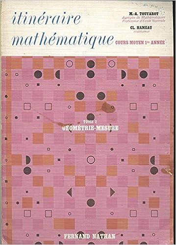 Amazon Fr Itineraire Mathematique Cours Moyen 1ere Annee