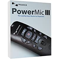 Nuance PowerMic III Speech Recognition Dictation Microphone with Cradle and 3 Foot Cord