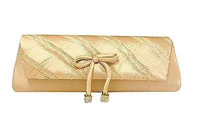 Amazon.com: Oro Embrague Noche Bolsa con desmontable correas ...