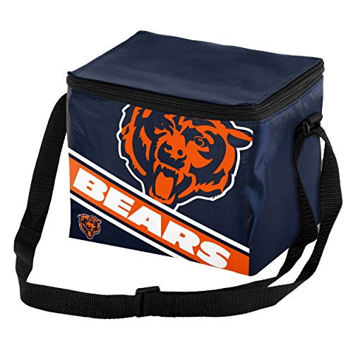 NFL Chicago Bears Big Logo Stripe Cooler (6 Pack), One Size, Team Color (Chicago Bears Lunch Box compare prices)