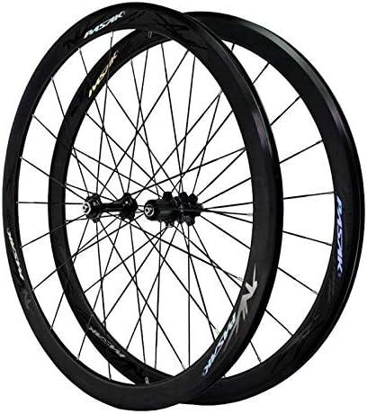 Bike Wheelset 7-12スピードフリーホイール・リムの高さ40ミリメートルC / Vブレーキクイックリリースフロント20Hリア24Hホイールを70℃ロードバイクホイールセット2個スーパーライト自転車 (Color : B)