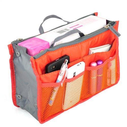 il corsa borsa dell'organizzatore di tasche black sacchetto Lyuboov inserisce Orange cosmetico 12 della qwT0Wtx6v