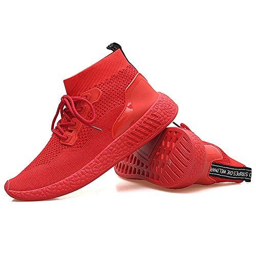 Btrada Mens Scarpe Da Corsa Ultra Llight Fly Mesh Traspirante Casual Moda Sport Sneakers Verde