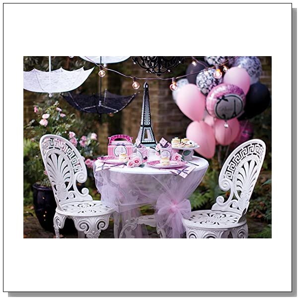 Paris Eiffel Tower Damask Party Supplies - Basic Party Pack for 16