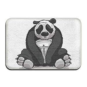 Triste Panda puerta alfombrillas alfombrillas de al aire libre
