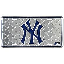 New York Yankees Diamond Metal License Plate - 6x12