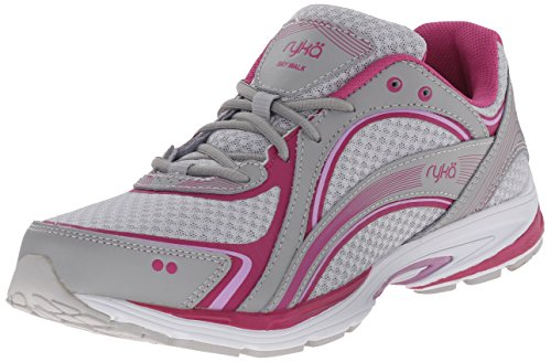 RYKA SKY WALK Walking Shoe, Cool Mist Grey/Orchid Bouquet, 9.5 M US