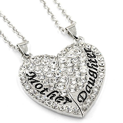 OliaDesign Mother Daughter Pendant Necklace Mother's Day Gift for Mom (Mothers Days Gift)