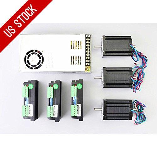 3 Axis CNC Kit 3.1Nm Nema 24 Stepper Motor & M542T Driver CNC Mill Plasma Lathe