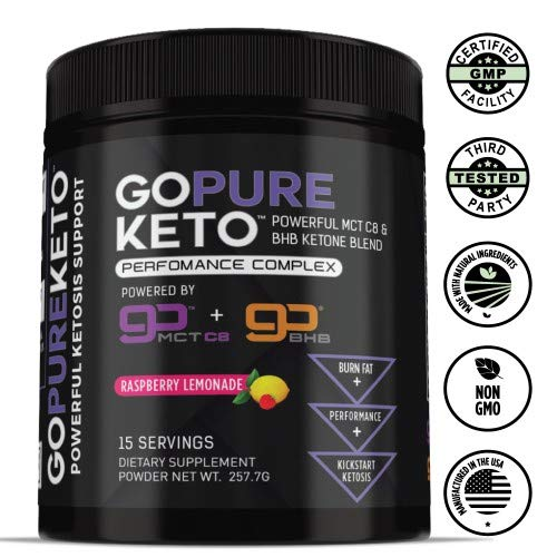 Go Pure KetoTM MCT Oil + Exogenous Ketones (BHB) | Get Into Ketosis, Enhance Performance & Mental Focus (Pack of 14)