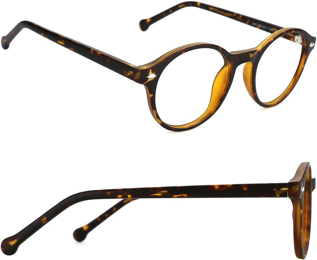 TIJN Occhiale da vista rotondo senza montatura per donne e uomini