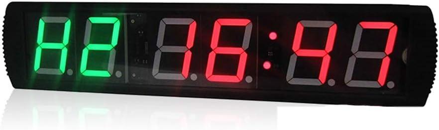LEDスポーツタイマー LED桁内部トレーニングタイマージムボクシングストップウォッチLed壁時計リモコン付きフィットネス用 デジタルスポーツタイマー (色 : ブラック, サイズ : 65X16X4.5CM) ブラック 65X16X4.5CM
