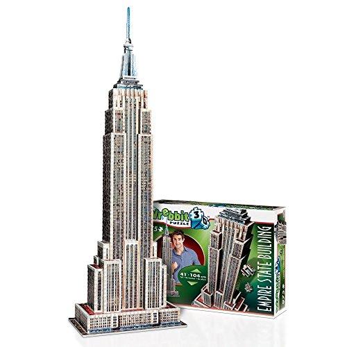 WREBBIT 3D Empire State Building 3D jigsaw puzzle (975-pieces) ()