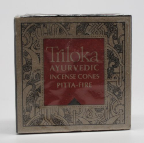 Pitta Fire (Red) Cones - Triloka Ayurvedic Meditation Incense