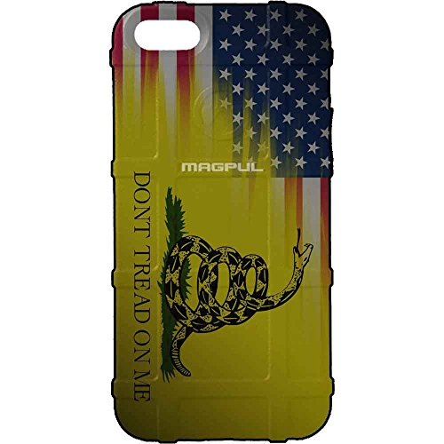 EGO Tactical Limited Edition Design UV-Printed onto a MAG849 Field Case Compatible with Apple iPhone 7 + Plus, 8 + Plus, 7+, 8+ USA Flag -Don't Tread on Me