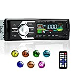 Car Stereo with Bluetooth, Single Din Car Radio Receiver, Car MP3 Player/USB/SD/AUX/FM Radio with Wireless Remote Control