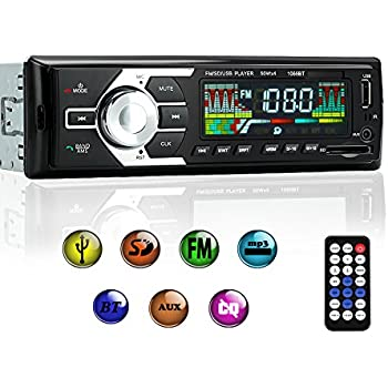 Car Stereo With Bluetooth, Single Din Car Radio Receiver, Car MP3 Player/USB