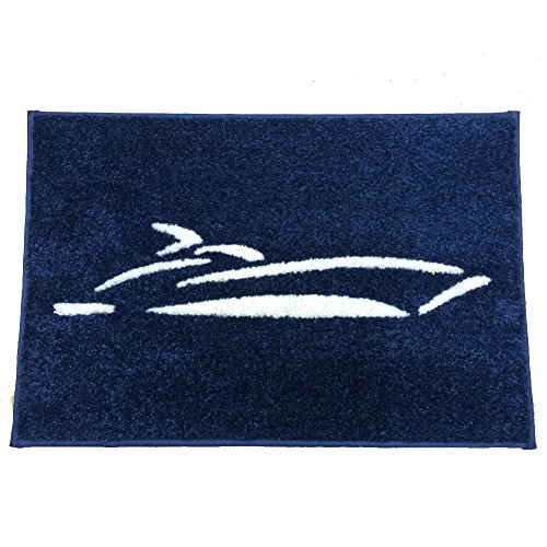 Coastal Custom Carpets Power Boat Blue Mat, 27