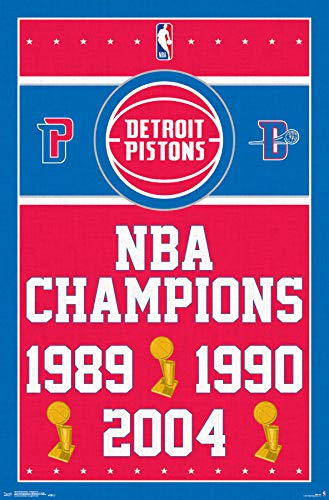 Trends International Detroit Pistons-Champions Clip Bundle Wall Poster 22.375