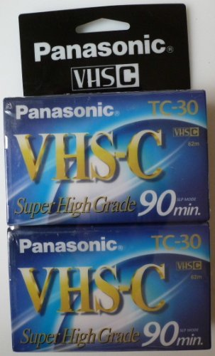 Panasonic SHG - Twin Pack TC-30 VHS C Blank Tapes - 90 Min. SLP Mode