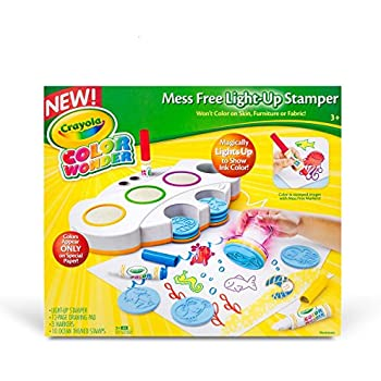 Crayola Color Wonder Mess Free Light-Up Stamper, Art Tools, Gift, Ages 3, 4, 5, 6
