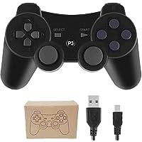 Kepisa Control Inalámbrico Bluetooth para Playstation 3 PS3 con Cable USB (Black)