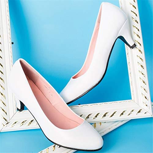 Orteil Taille Sexy Printemps Automne Colorée Blanc Mode Grande Ronde Pompes Femmes Douce Jrenok Douces Chaussures q0xXzz