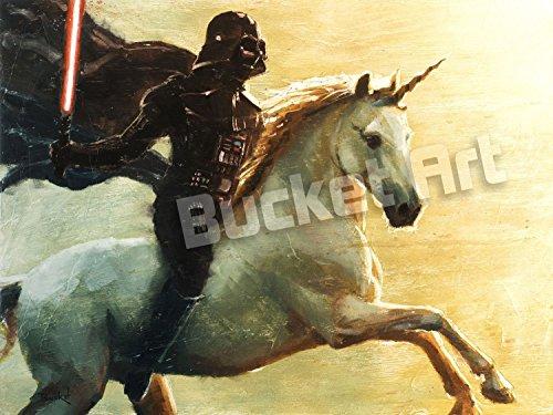 Darth Vader Helmet Art (Bucket Titan Vader - Star Wars Unicorn Darth Vader Parody - 9