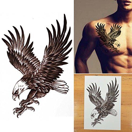 COKOHAPPY Large Temporary Tattoo , Eagle Bird Hawk Wing