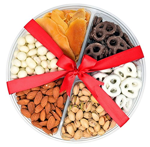 Valentines Day Nuts Gift Basket 1.5 Lbs - Send a Prime Tray for Man, Woman & Families ,Offices , Military