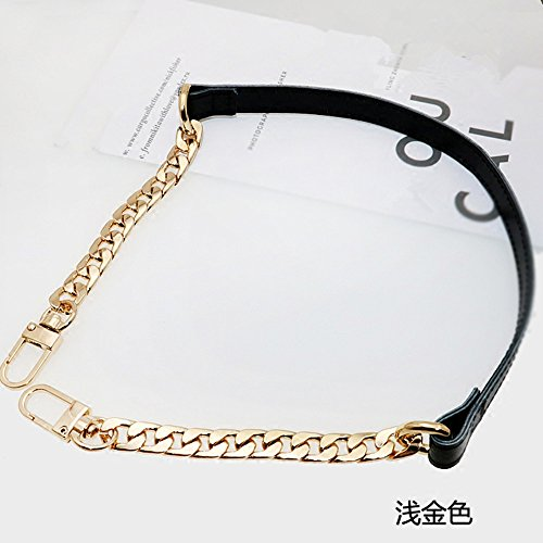 PU Leather + Metal Purse Metal Chain For messenger bags Replacement Purse Strap / bag strap / handbag straps / shoulder strap DIY (31 inch, - Strap Tory Replacement Burch