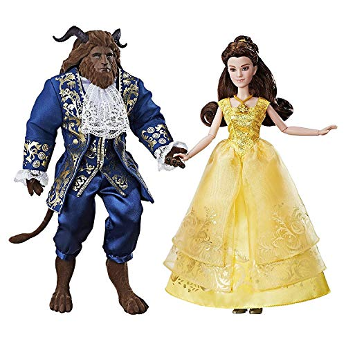 Disney Beauty and the Beast Grand Romance - Inspired by Live-Action Film - Includes Posable Princess Belle and the Beast - Includes Doll, Dress, Shoes, Necklace, Hairpiece, and Beast Figure -