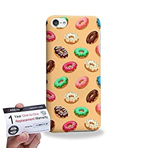 Case88 [Apple iPod Touch 6] 3D impresa Carcasa/Funda dura para & Tarjeta de garantía - Art Sweets Pattern Donut Party B Donut Assorted