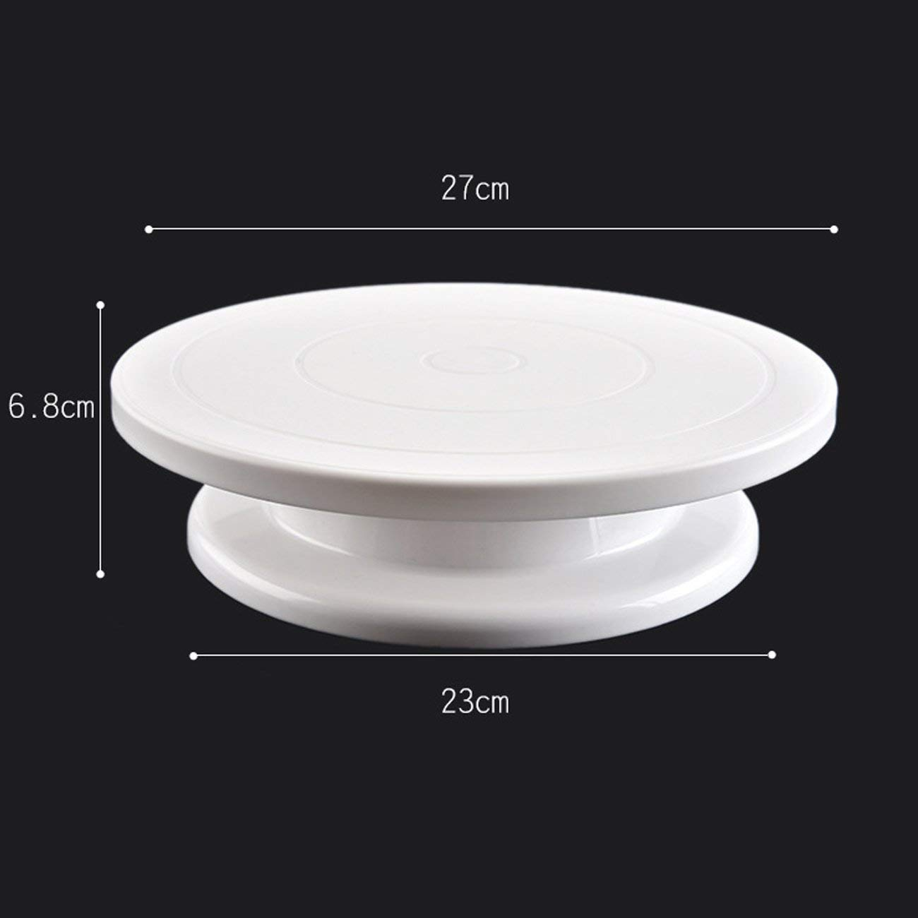 Cake Decorating Turntable Baking Cake Turntable Plastic Rotating Round Plastic Rotary Table Turntable Cake Plate