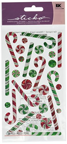 Sticko Candy Canes Sticker (Canes Stickers Candy)