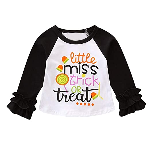 9ef1fdb0 Amazon.com: Lurryly❤Toddler Baby Halloween T Shirt Long Sleeve Tops Kids  Apparel Clothes Outfit 1-4T: Clothing