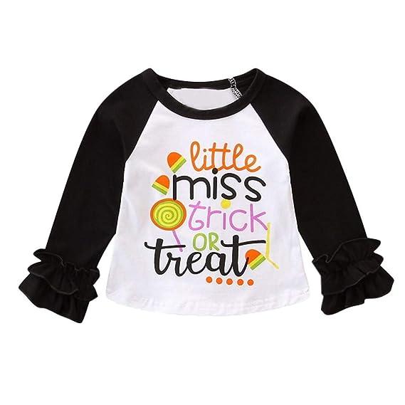 ff303a6b6 Baby Girls Long Sleeve Tee Shirt Tops Outfits Halloween Letter ...