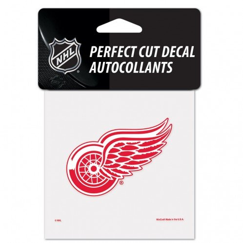 - NHL Detroit Red Wings Perfect Cut Color Decal, 4