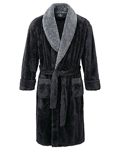Cotton Traders Mens Guiness Fleece Dressing Gown Nightwear 100% Polyester XXX-Large/XXXX-Large Grey