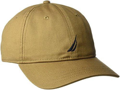 Baseball Adjustable Logo Hat (Nautica Men's Standard Classic Logo Adjustable Baseball Cap Hat, Oyster Brown, One Size)