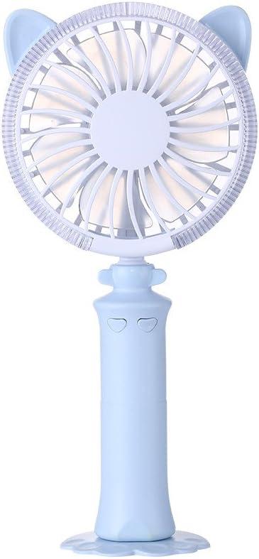 Ventilador de Mesa Pequeño Portátil y Silencioso LED Recargable ...