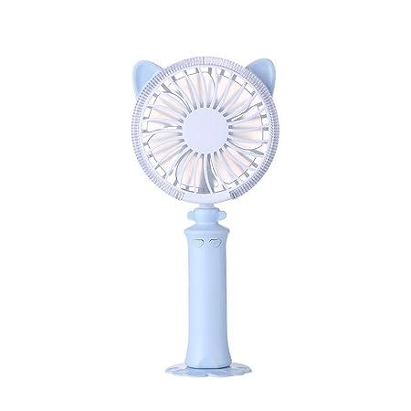 Household Appliances Mini Cute Cat Ear Fan Rechargeable Small Fan Handheld Portable Fan Outdoor Travel Fan