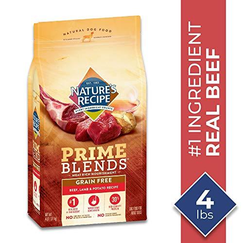 Nature's Recipe Prime Blends, Beef, Lamb, and Potato Recipe, Grain Free, Dry Dog Food, 24 Pound Bag