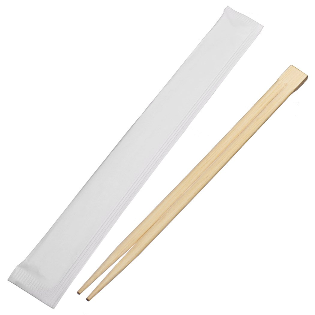 Universal Souvenir 9 Inch Disposable Bamboo Chopsticks with individual Package Connected at the Top (200 Pcs)