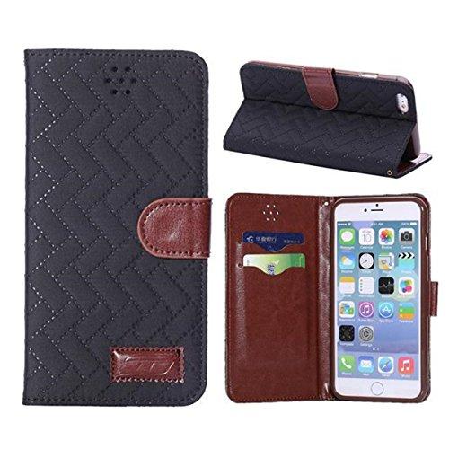 iPhone 6 Hülle,Apple iPhone 6 Hülle (4.7 Zoll) Lifetrut®[GZ Schwarz] Flip Case mit lebenslanger Garantie + Kartenfächern & Standfunktion
