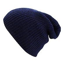 OUTERDO Fashion Men Women Winter Knit Oversize Baggy Beanie Hat Ski Slouchy Skull Cap