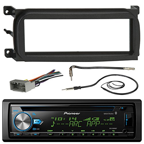Pioneer DEH-X6900BT Bluetooth CD Car Stereo Audio Receiver - Bundle Combo W/ (Dual Drive Amplified Fm Antenna)